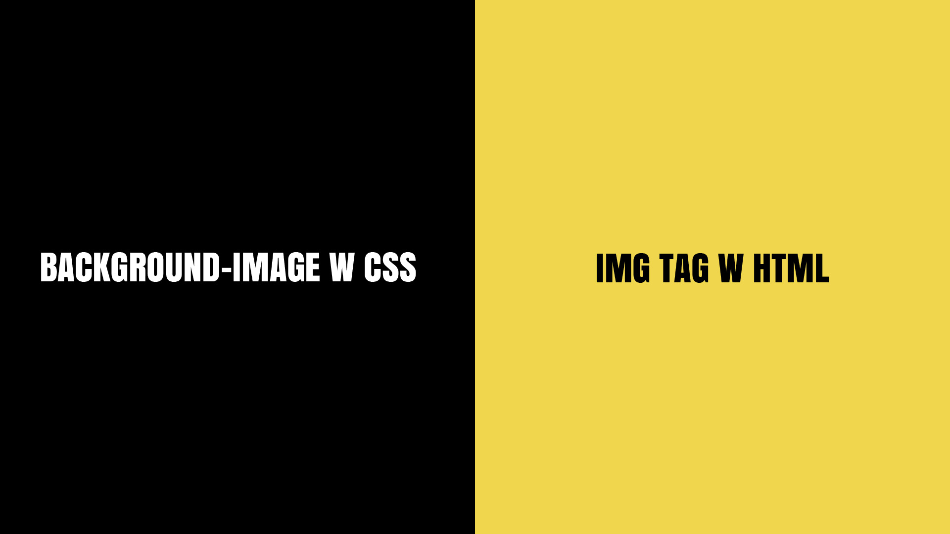 Background-image w CSS czy img tag w HTML